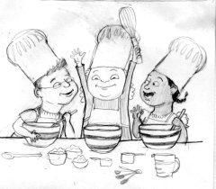 kids cooking cartoon