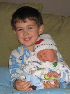 Cutie pie Lucas being the big brother for the first time!