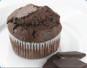 chocolate chia muffin